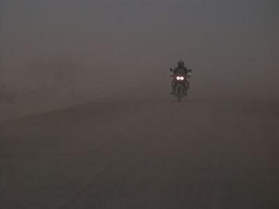 Mali - Environs de Douentza Vent de sable Moto AfricaTwin