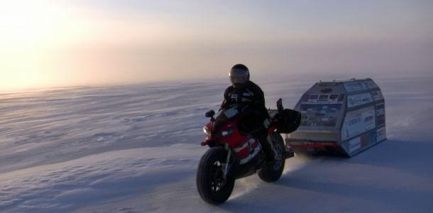 2013 Test Ride With Sledge On The  Polar Ice