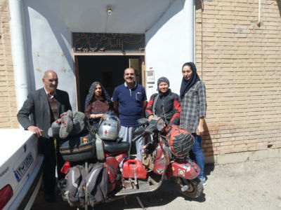 Iran, Abadeh, With Host Family