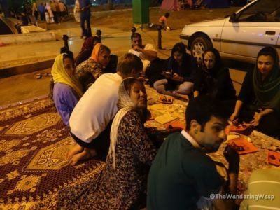 Iran, Bandar Abbas, Pinic Dinner Invitation