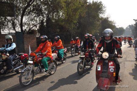 Pakistan, Lahore, Women Motorcyclist Rally