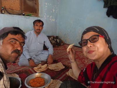 Pakistan, Lunch With Levies Officer Before Crossing Border Into Iran