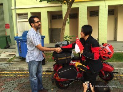 Singapore, Sent Off By MP Pritam Singh